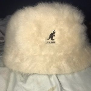 Kangol Vintage Retro Cream Bucket Hat Unisex